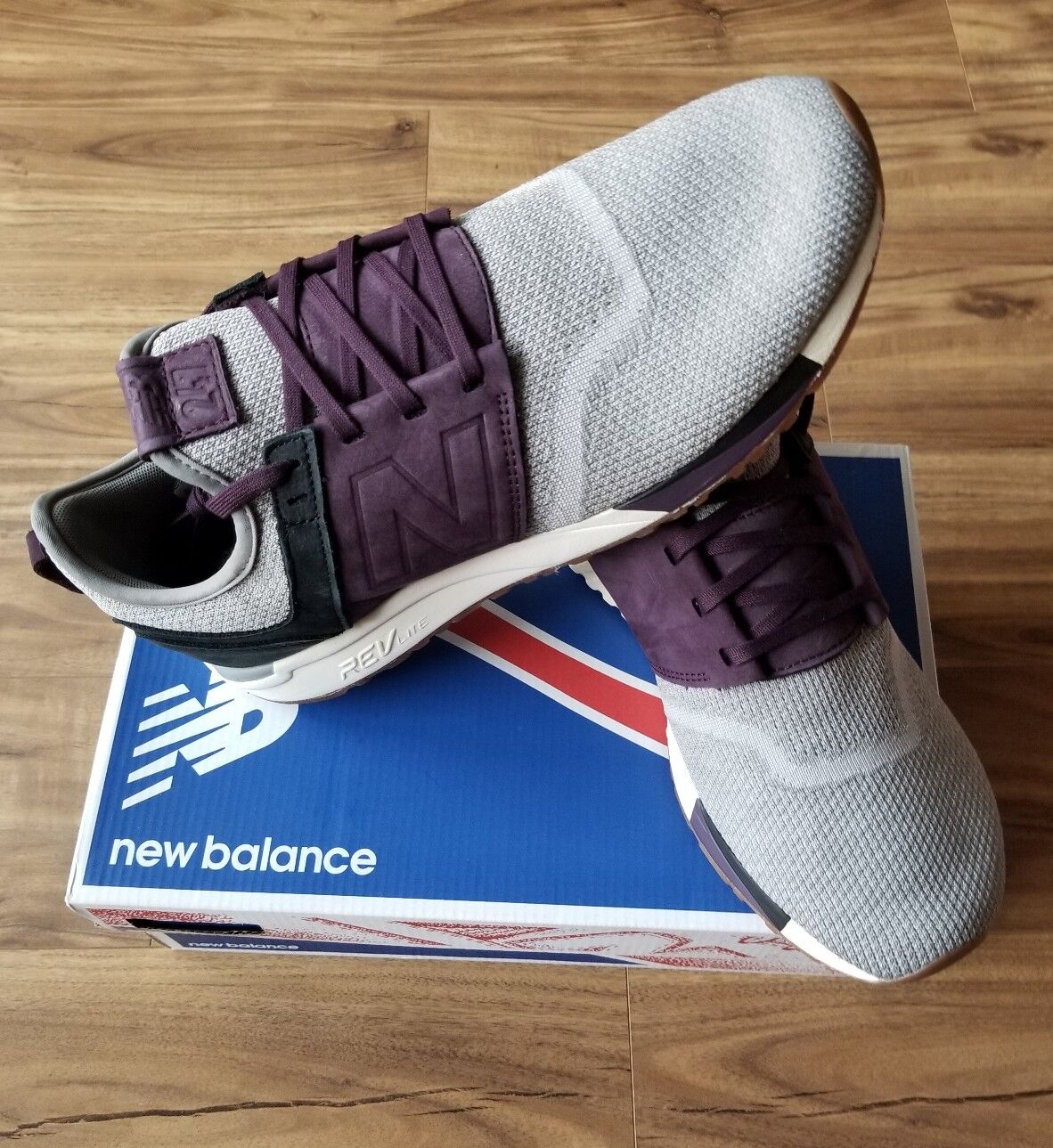 New Balance 247 Luxe Size in Grey/Black/Burgundy/Purple MRL247LM Men's Size Luxe 11.5 cc2414