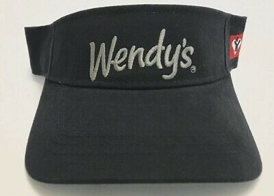 Details about  /Wendy/'s Sun Visor Employee Fast Food Logo Dave Thomas Uniform Apparel Hat Cap