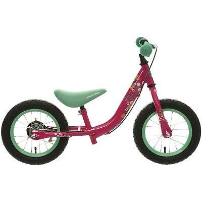 "Apollo Wizzer Girls Balance Bike Bicycle Pink 12"" Wheels Steel Frame Age 3-5"