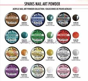 Mia Secret Acrylic Powder Sparks 3d Nail Art 12 Colors Set Glitter