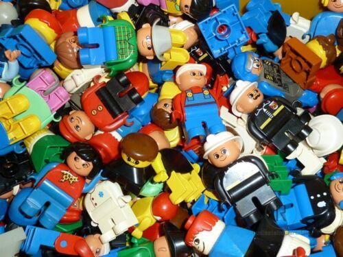 LEGO ® DUPLO 10 x des figures diverses mâle papa maman ouvrier du bâtiment policier