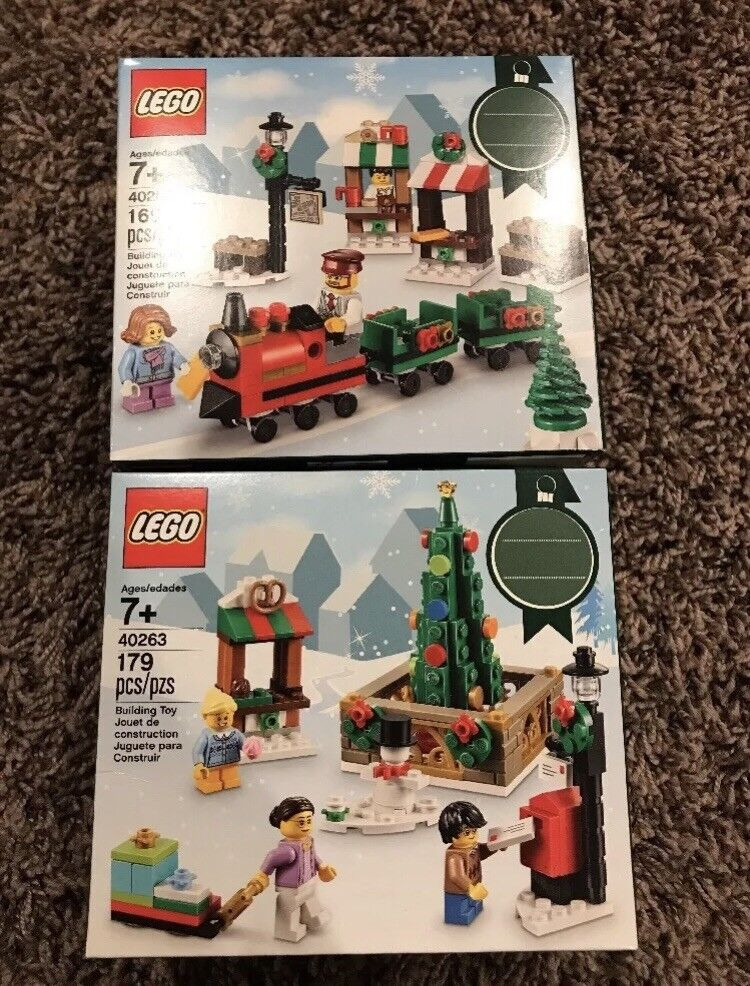 Lego Holiday 40262 CHRISTMAS TRAIN  40263 TOWN SQUARE New, Sealed FAST SHIP