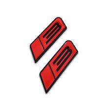 2x Blackampred Roush Stage 3 Emblem Mustang Badge Metal Sticker Sport Turbo Decal Fits Focus