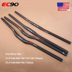 US-EC90-3K-Matt-Handlebar-Carbon-Fiber-31-8-25-4mm-Flat-Riser-MTB-Bicycle-Bar