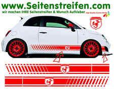 Fiat 500 EVO - ABARTH esseesse Wappen Seitenstreifen Aufkleber - Art.Nr.: 1139