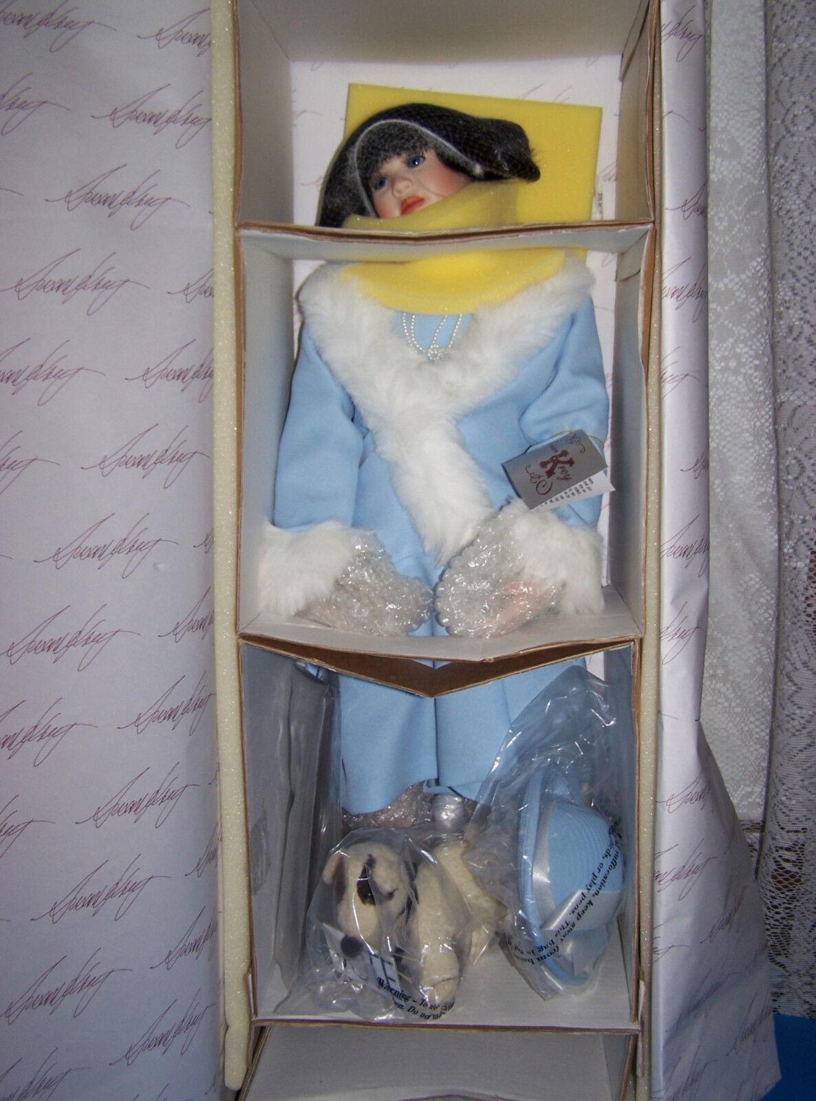 punto vendita Susan Krey 26 26 26  ELEANOR PORCELAIN bambola  20' style Collectible Concepts w DOG NRFB  edizione limitata