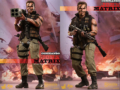 "Hot Toys Commando John Matrix Arnold Schwarzenegger 1/6 Scale 12"" Figure On Hand"