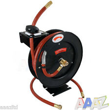 "30 FEET 3/8"" INCH AUTO RETRACTABLE WALL MOUNTED REWIND GARDEN AIR LINE HOSE REEL"