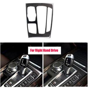 RHD-Carbon-Fiber-Gear-Shift-Panel-Cover-Trim-Sticker-For-BMW-X5-X6-F15-F16-14-17