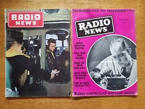 2-Vintage-RADIO-NEWS-Magazine-1939-1944-Lot-of-2
