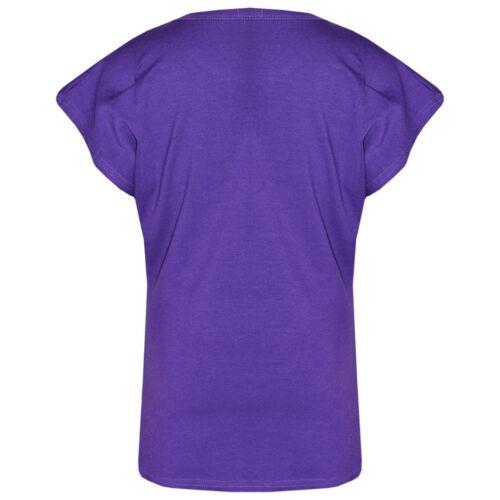 Kids Girls Tops Purple Designer/'s Looking Awesome Print T Shirt Legging Set 5-13
