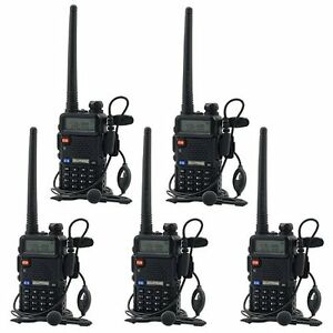 5-PCS-BaoFeng-UV-5R-VHF-amp-UHF-Dual-Band-Walkie-Talkie-ham-2-way-5R-radio-From-US