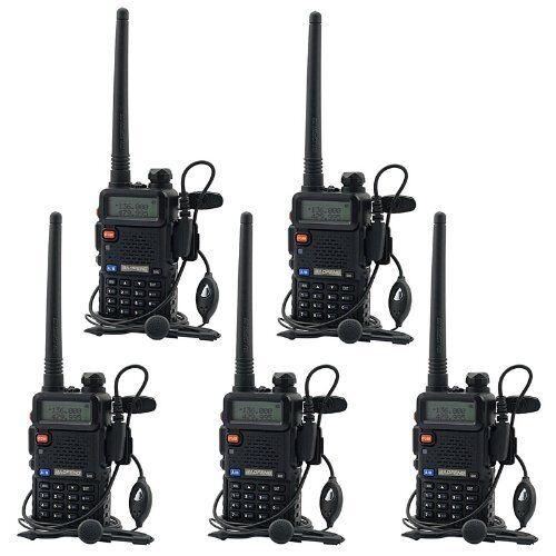 5 PCS BaoFeng UV-5R VHF&UHF Dual-Band Walkie Talkie ham 2 way 5R radio From US