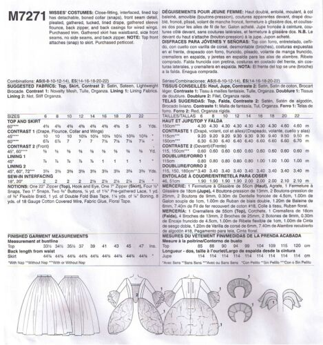 Fairy Godmother Angel Dress Ball Gown Costume Sewing Pattern Plus 14 16 18 20 22