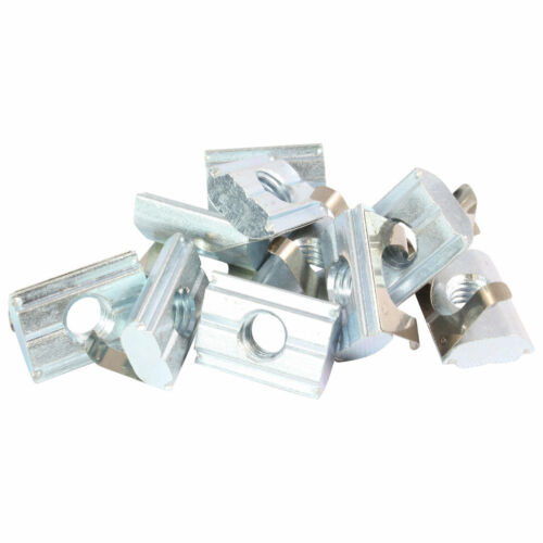 10x Sliding Block folds away with Spring Nut 8-type B-with Bar Steel Zinc Plated