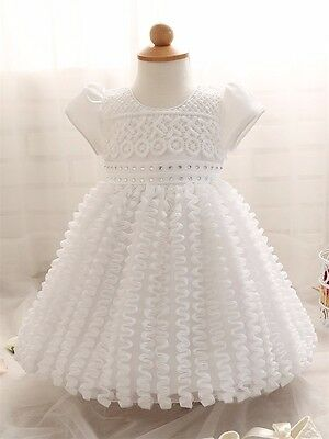 Baby Girls Dress Newborn to 2 Years Girl Ceremonies Party Dresses Wedding Gown