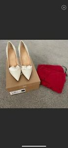 Christian Louboutin So Kate 120 Patent Leather Pumps - White, US 7.5