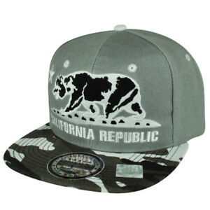 090f597aeb2 Image is loading California-Republic-Cali-Bears-Flag-Camouflage-Camo- Snapback-