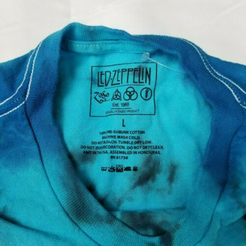 Led Zeppelin Men/'s L T-Shirt North American Tour 1975 Licensed Concert Tour