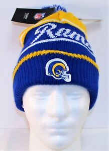 186aab1ca6a Nike NFL Los Angeles Rams Blue   Gold Unisex Knit Beanie 899997 417 ...