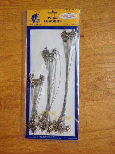 """9/"""" 12/"""" Fishing Line Stainless Steel Leader Wire 6/"""" 72 Pcs 15cm 23cm 30cm."""