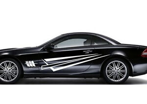 Car Racing Pinstripe Door Decals Vinyl Graphics Side Stickers - Graphics for the side of a car