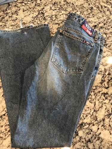 Womens Bongo Distressed Boot Cut Jeans Size 11 Low