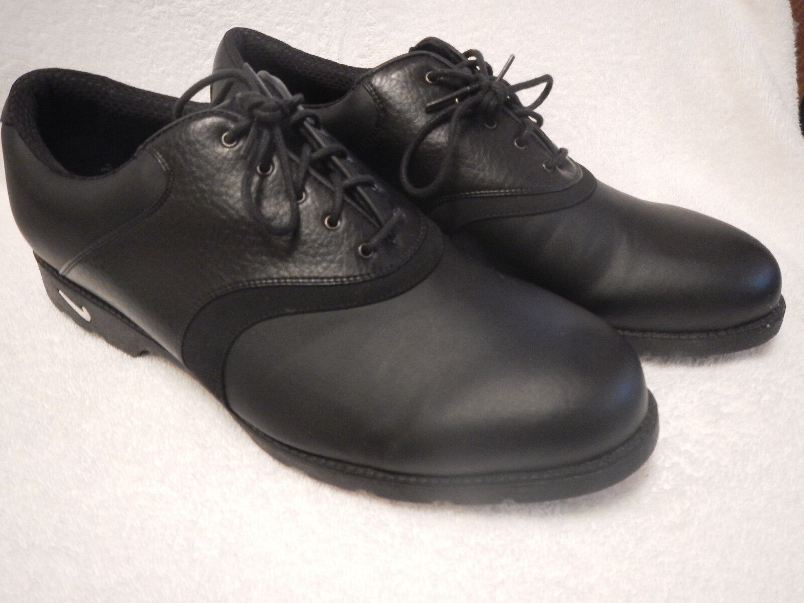 Nike Air Comfort Golf Soft Spike Black Leather Men's US 10 M Waverly Last The most popular shoes for men and women