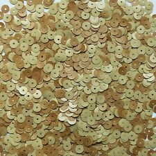 EBONY 6mm Flat Round Loose SEQUINS PAILLETTE ~ WOOD GRAIN ~  Made in USA
