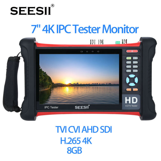 "SEESII 7"" Touch 4K IPC Camera Tester Monitor TVI CVI AHD PTZ Control HDMI Wifi"