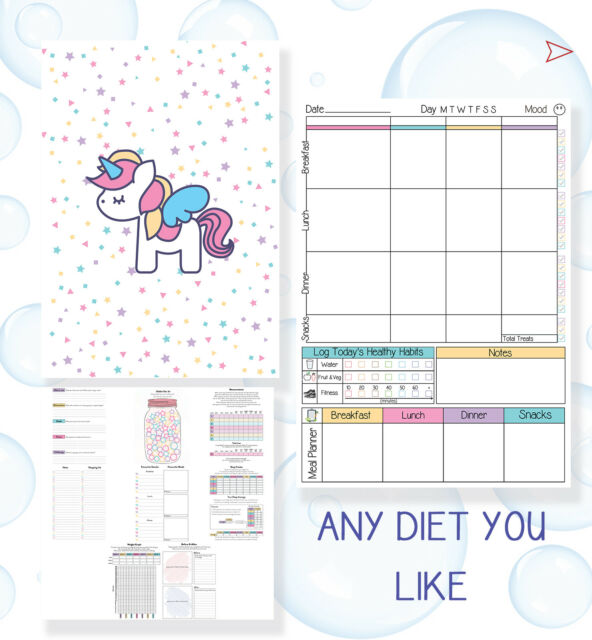 food diary weight loss buddy notebook tracker slimming extra easy a6