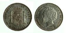 pcc1783_3) ESPAÑA 5 PESETA 1892 (18-92)  ALFONSO XIII