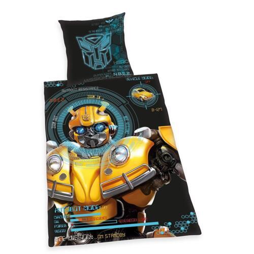 Bettwäsche glatt Transformers Bumblebee Roboter Auto Käfer 135 x 200 NEU WOW