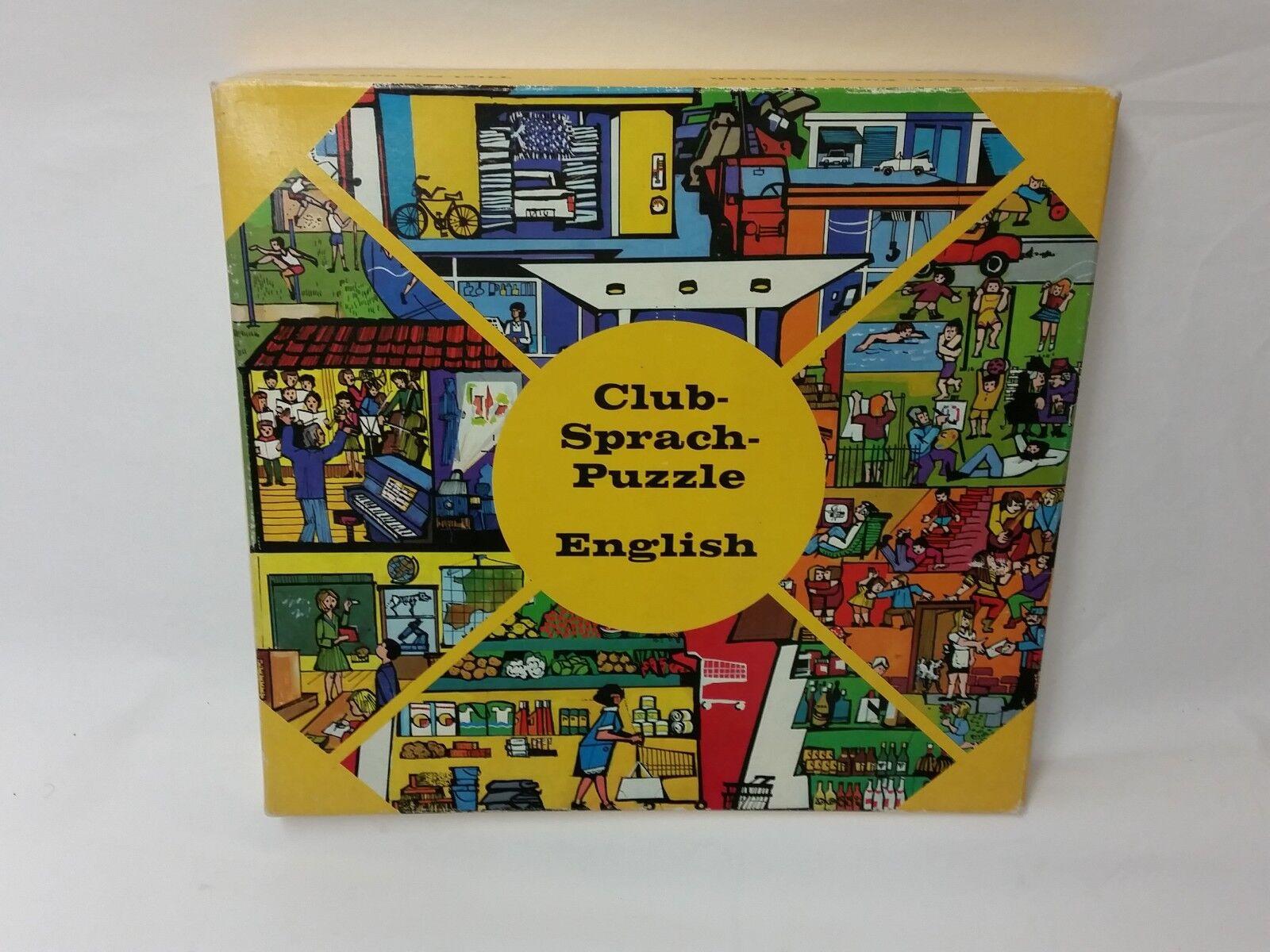 Club-linguistiche Puzzle English-tedesco-rarità    di visti mediaphon 1973
