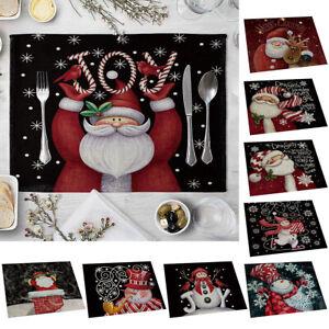 Mantel-De-Navidad-Santa-Muneco-de-nieve-Mantel-de-Mesa-de-comedor-Almohadilla-Navidad-Decoracion-del