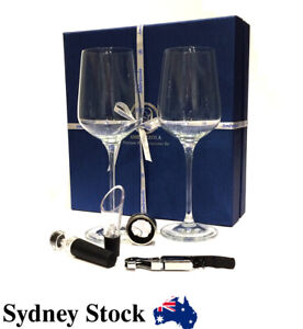 AMBRIZZOLA Perla Wine Gift Set with Quality 15oz Glasses