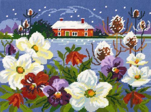 Winter Garden C20N95 DMC Preprinted Canvas Tapestry