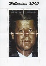 JFK JOHN F KENNEDY PRESIDENT OF USA MILLENIUM 2000 SOMALILAND MNH STAMP SHEETLET