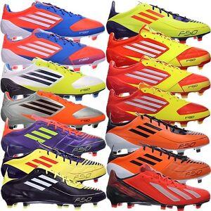 100% authentic 9159b 51f86 Das Bild wird geladen Adidas-F50-ADIZERO-TRX-FG-Fussballschuhe-blau-schwarz-