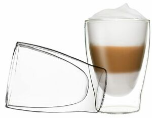 2x 310ml duos thermogl ser doppelwandig latte macchiato cocktail eis tee ebay. Black Bedroom Furniture Sets. Home Design Ideas