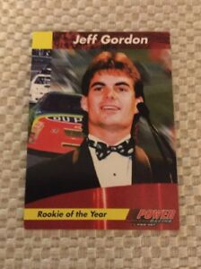 Details About Nascar 1994 Power Racing Pro Set Jeff Gordon Rookie Of The Year Prototype Card