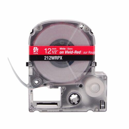 "K-Sun 212WR White on Red PX Tape 1//2/"" KSun Epson 212WRPX"