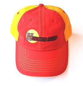 Hubner-Seed-Red-and-Orange-Hat-Adjustable-Strap-Back-Hook-and-Loop-Closure