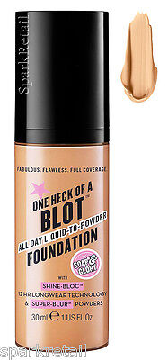 Soap and Glory One Heck of a Blot All Day Foundation Light/Fair 30ml COOL SAND