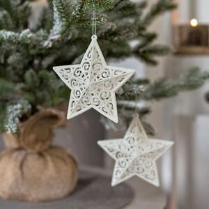 2er Set Weihnachtsstern Weiss Weihnachtsbaumdekoration