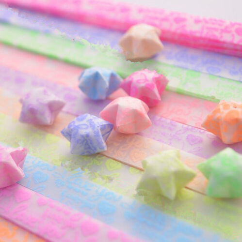 Origami Luminous Lucky Wish Star Paper Strips Glows in the dark Craft YJ