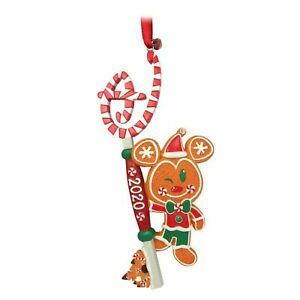 Disney Store Mickey Mouse Christmas Gingerbread Man Key ORNAMENT.