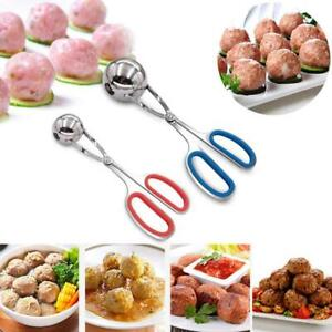 Stainless-Steel-Stuffed-Meatball-Clip-Non-Stick-Maker-Mold-Kitchen-Cooking-New
