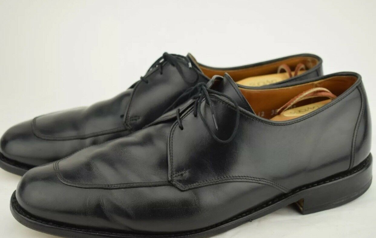 Allen Edmonds Burton Derby Dress Shoes Size 10.5 D Solid Black