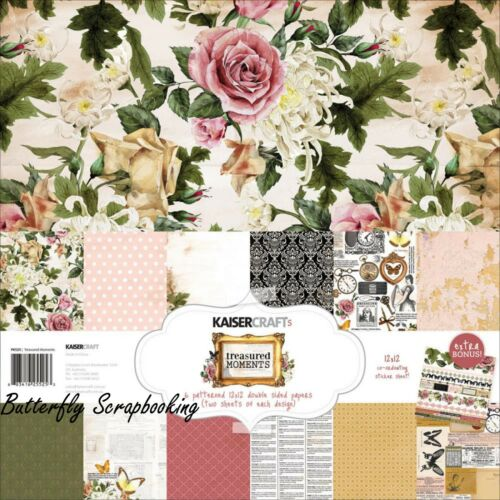 TREASURED MOMENTS Collection 12X12 Scrapbooking Kit Kaisercraft Paper Crafts NEW